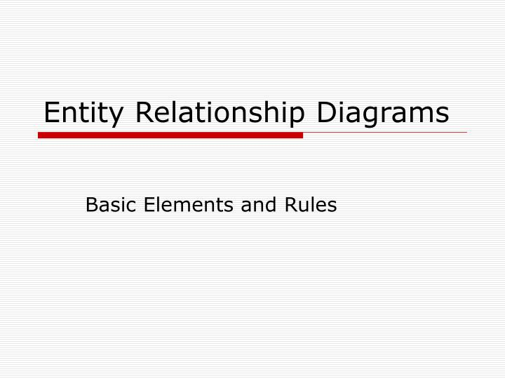 entity relationship diagrams n.