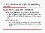 entity relationship e r modeling key terms1