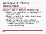 naming and defining relationships1
