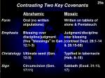 contrasting two key covenants2