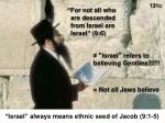 israel always means ethnic seed of jacob 9 1 5