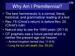 why am i premillennial3