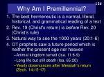 why am i premillennial4