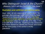 why distinguish israel the church