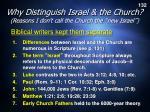 why distinguish israel the church2