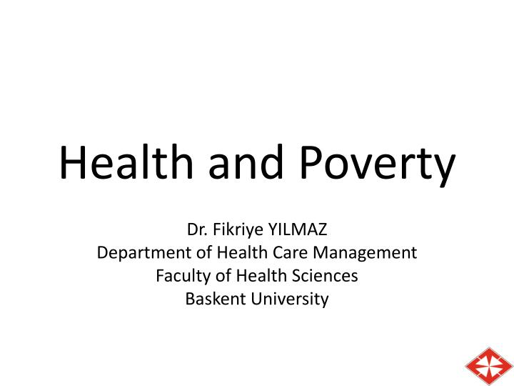 health and poverty n.