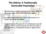 the elderly a traditionally vulnerable population