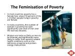 the feminisation of poverty