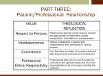 part three patient professional relationship