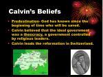 calvin s beliefs