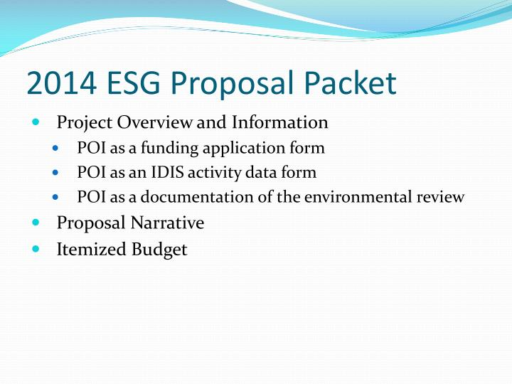 2014 ESG Proposal Packet
