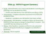 slide 43 wipa program summary