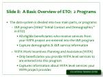 slide 8 a basic overview of eto 2 programs