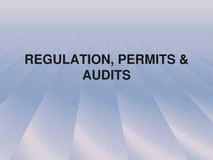 regulation permits audits n.