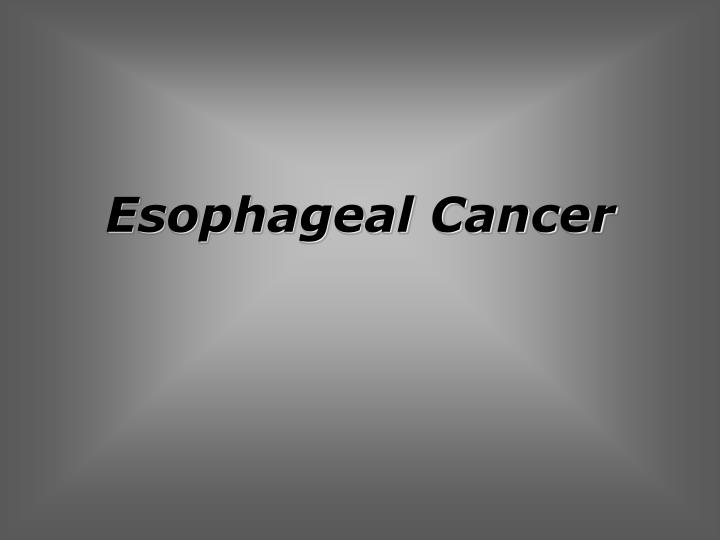 esophageal cancer n.