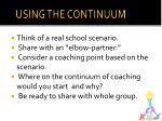 using the continuum