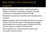 way of work for instructional coaches