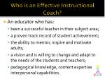 who is an effective instructional coach