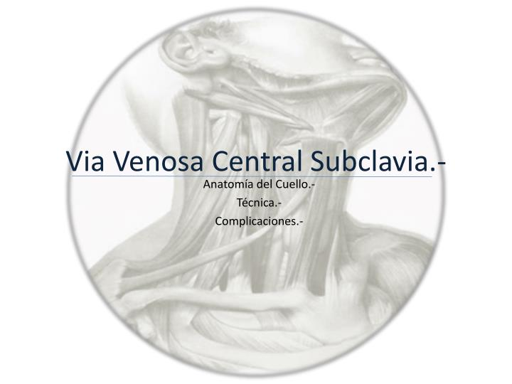 via venosa central subclavia n.