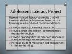 adolescent literacy project
