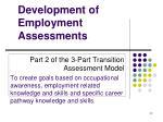 development of employment assessments