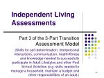 independent living assessments
