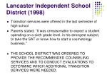 lancaster independent school district 1998