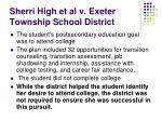sherri high et al v exeter township school district