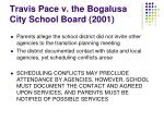 travis pace v the bogalusa city school board 2001