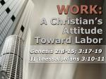 a christian s attitude toward labor