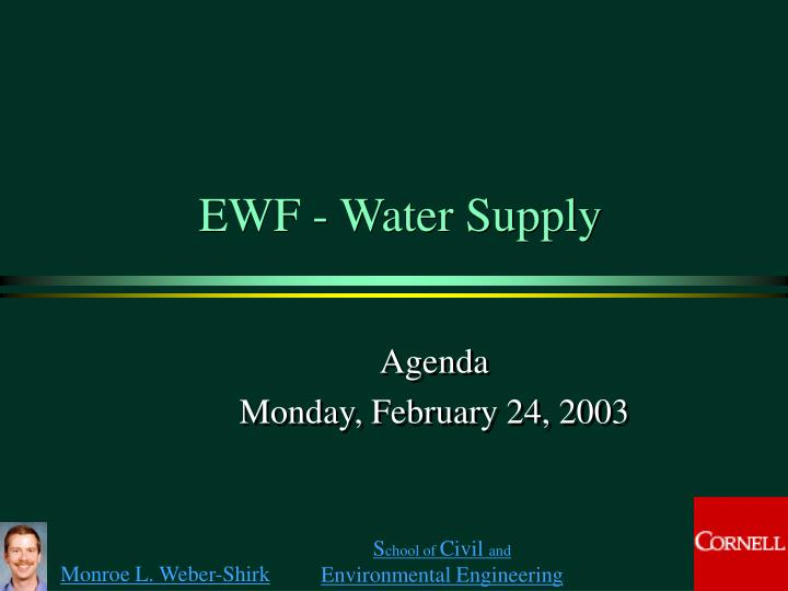 ewf water supply n.