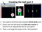 creating the ball part 2