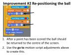 improvement 2 re positioning the ball