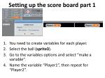 setting up the score board part 1