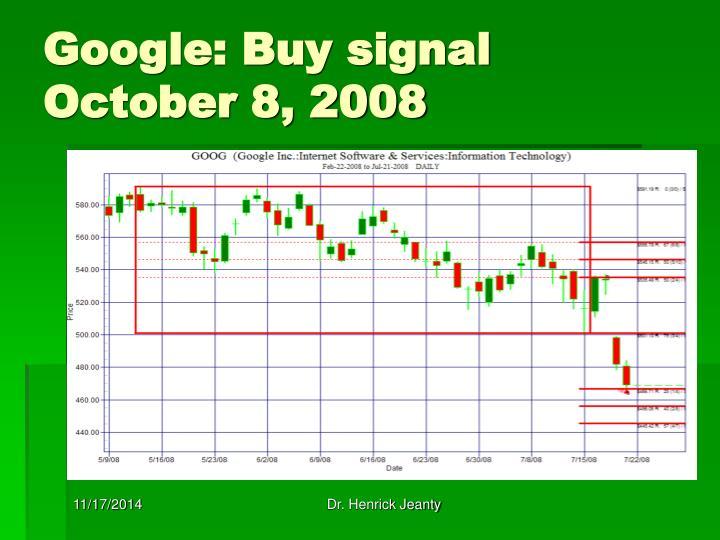 Google: Buy signal October 8, 2008