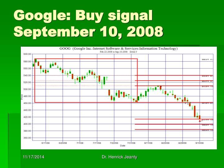 Google: Buy signal September 10, 2008