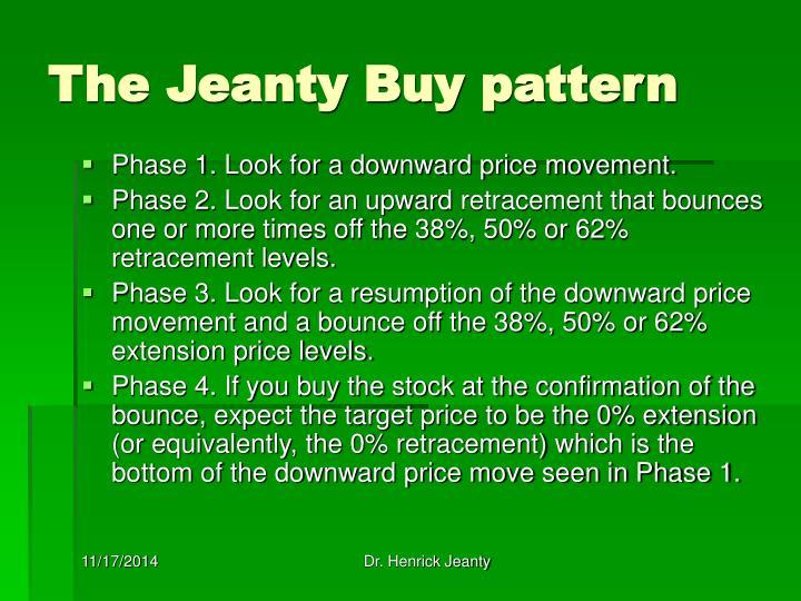 The Jeanty Buy pattern