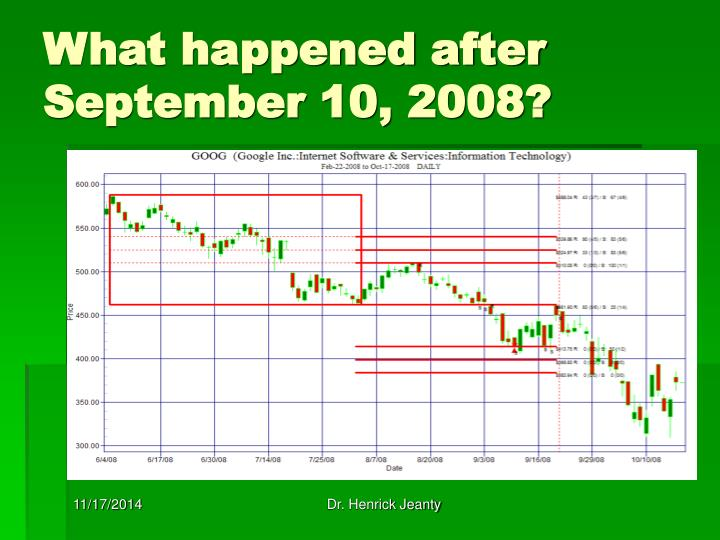 What happened after September 10, 2008?