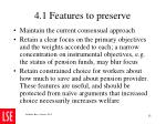 4 1 features to preserve