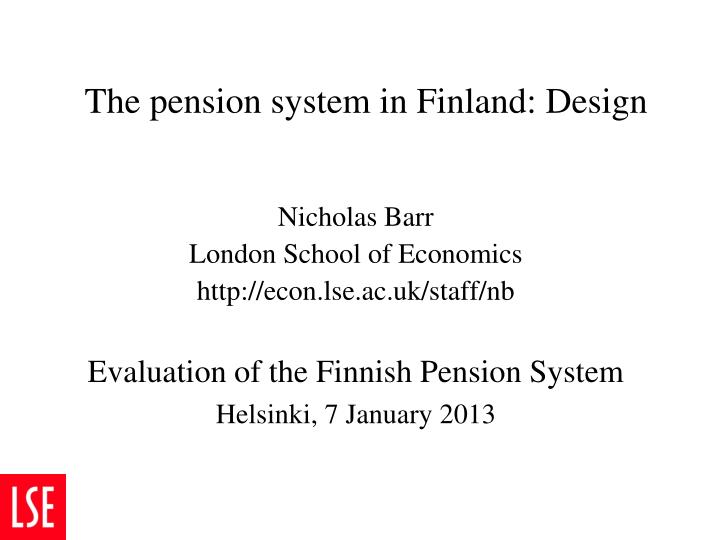 the pension system in finland design n.