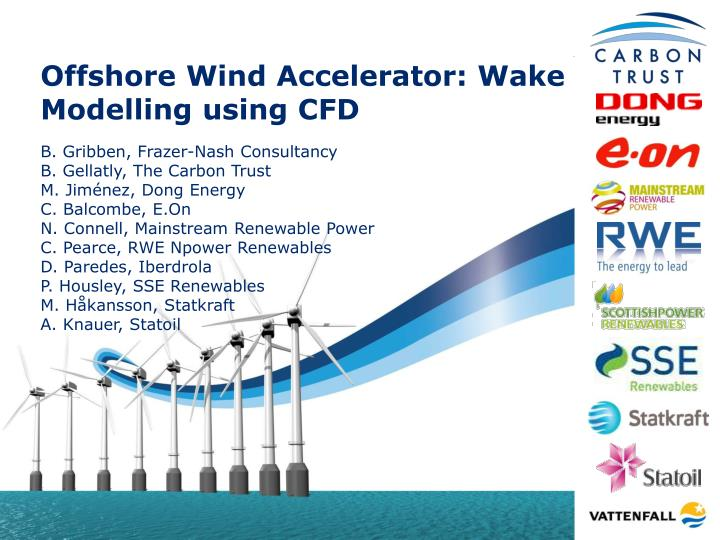 offshore wind accelerator wake modelling using cfd n.