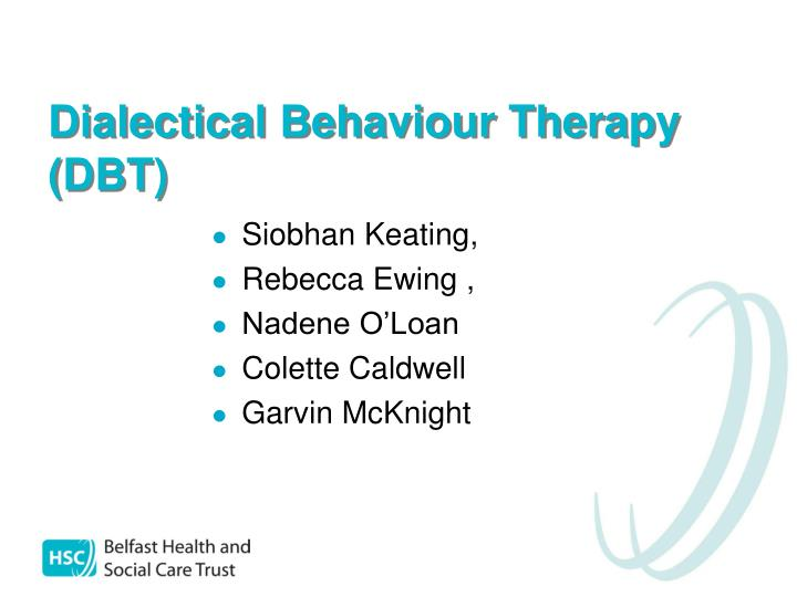 dialectical behaviour therapy dbt n.