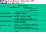 international diabetes federation idf consensus definition 2005