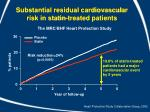 substantial residual cardiovascular risk in statin treated patients