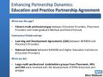 enhancing partnership dynamics education and practice partnership agreement