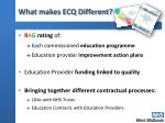 what makes ecq different