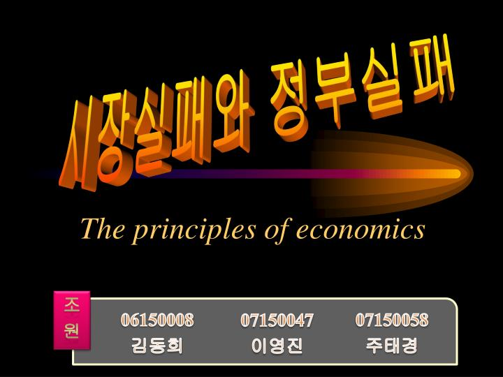 the principles of economics n.