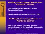 building codes design review and aesthetic controls