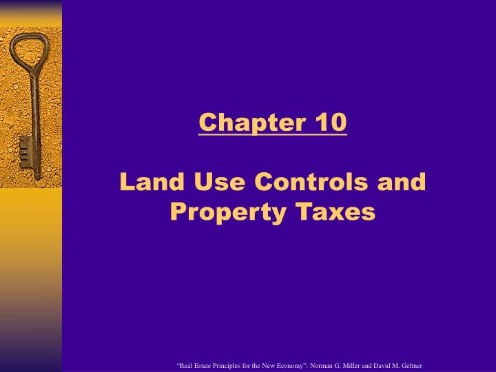 chapter 10 land use controls and property taxes n.