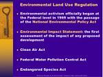 environmental land use regulation
